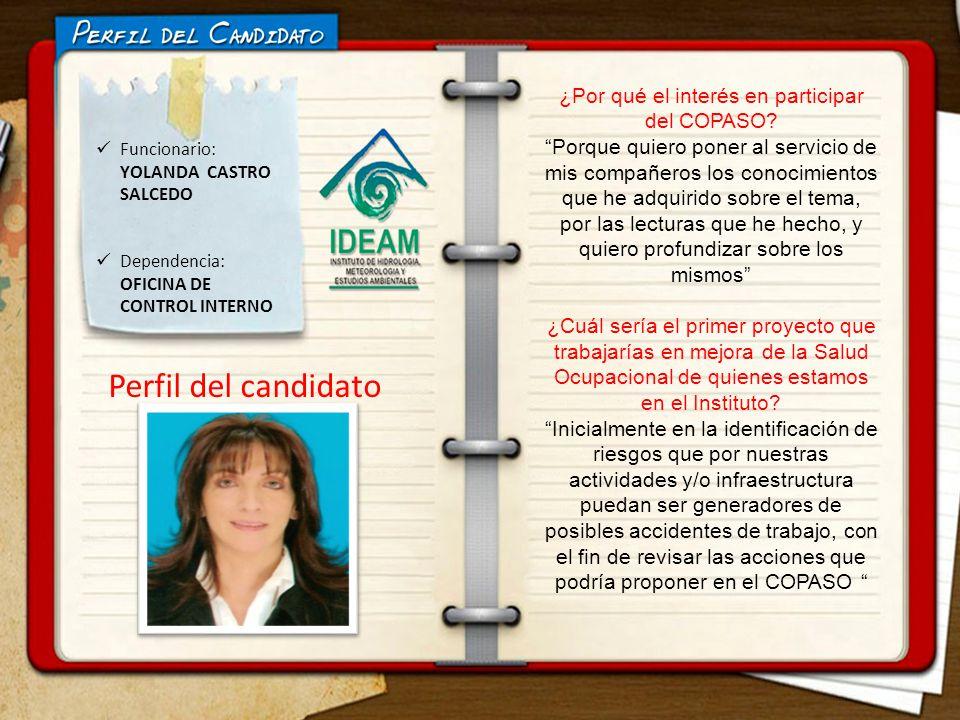 Funcionario: YOLANDA CASTRO SALCEDO