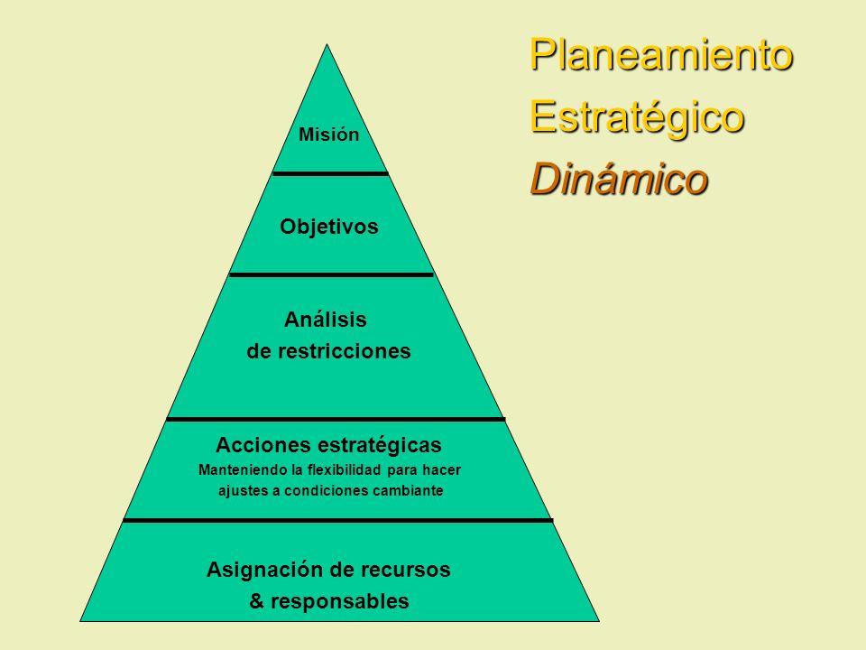 Planeamiento Estratégico Dinámico Objetivos Análisis de restricciones
