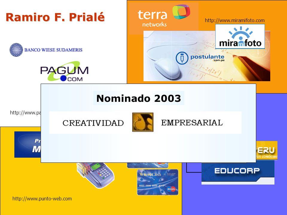 Ramiro F. Prialé Nominado 2003 Capacitación corporativa