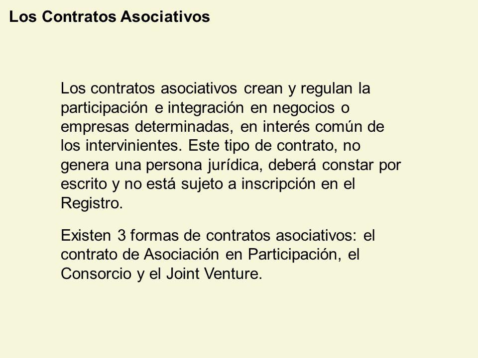 Los Contratos Asociativos