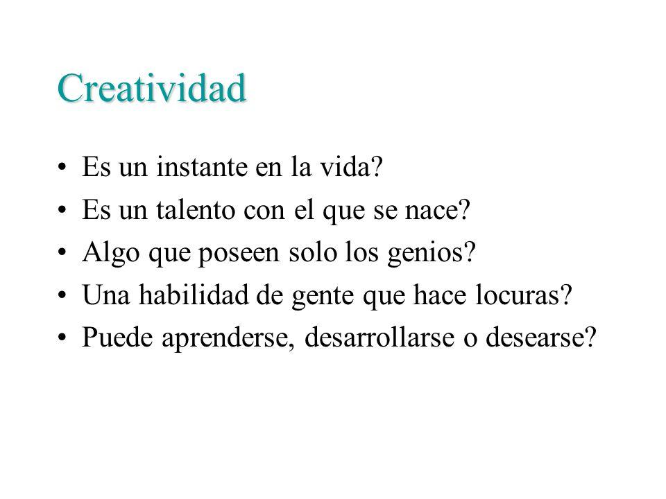 Creatividad Es un instante en la vida