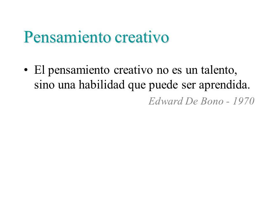 Pensamiento creativoEl pensamiento creativo no es un talento, sino una habilidad que puede ser aprendida.