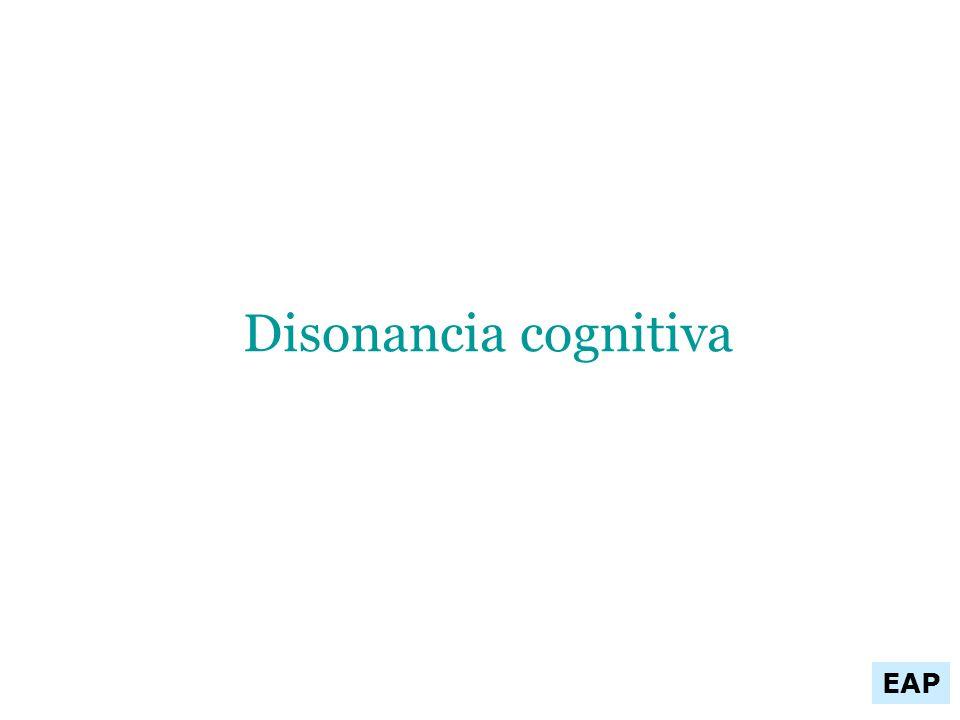 Disonancia cognitiva EAP