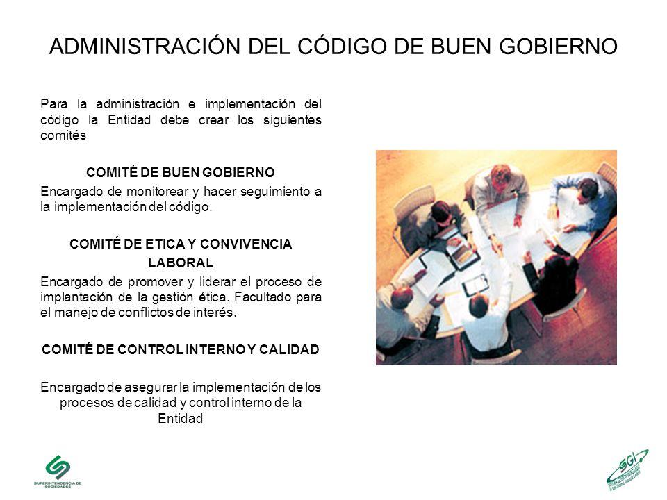 ADMINISTRACIÓN DEL CÓDIGO DE BUEN GOBIERNO