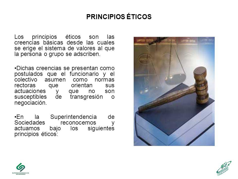 PRINCIPIOS ÉTICOS