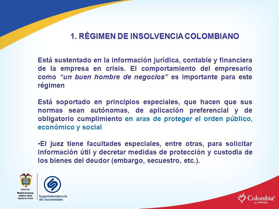 1. RÉGIMEN DE INSOLVENCIA COLOMBIANO