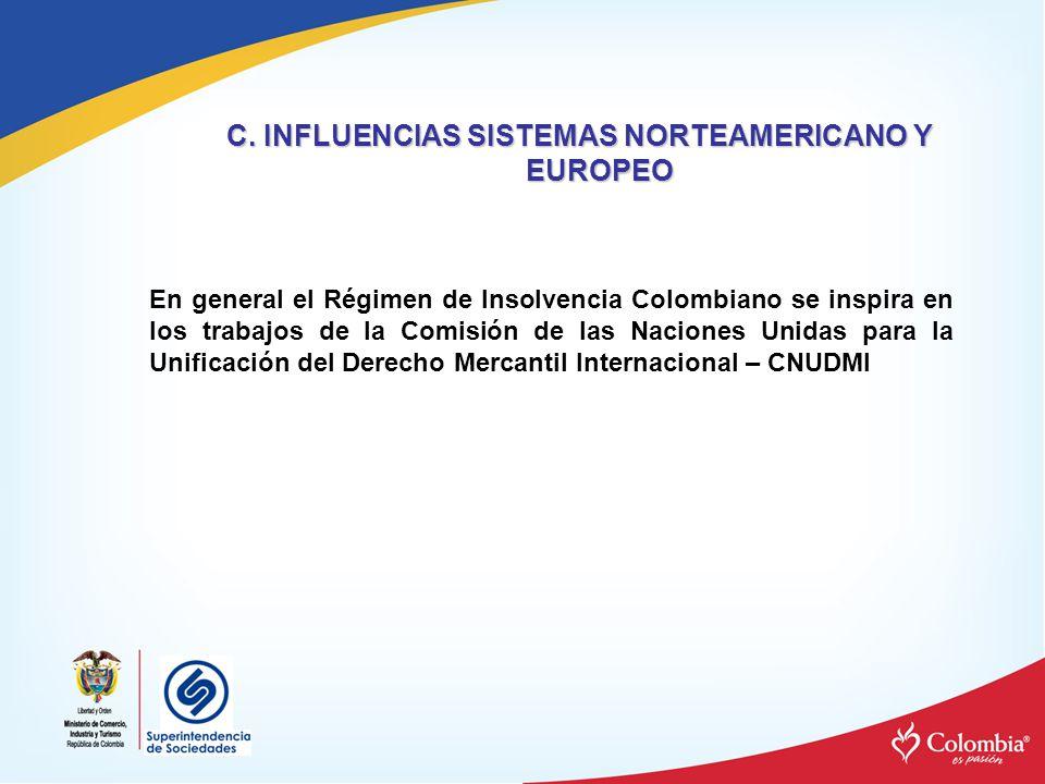C. INFLUENCIAS SISTEMAS NORTEAMERICANO Y EUROPEO