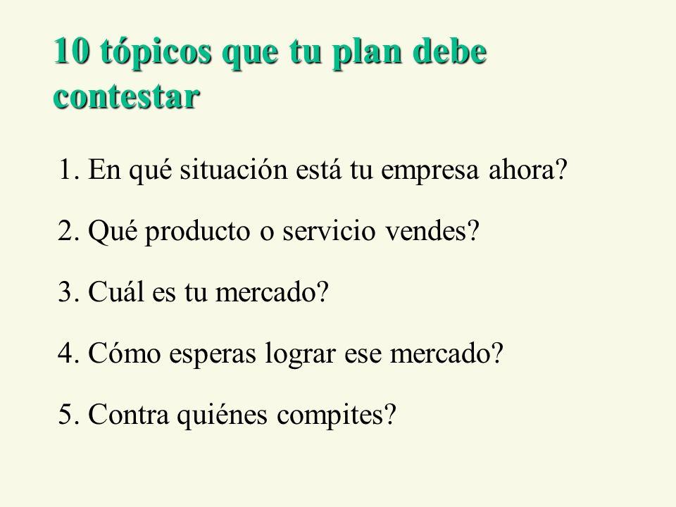 10 tópicos que tu plan debe contestar