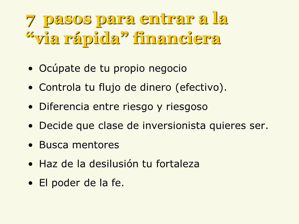 7 pasos para entrar a la via rápida financiera