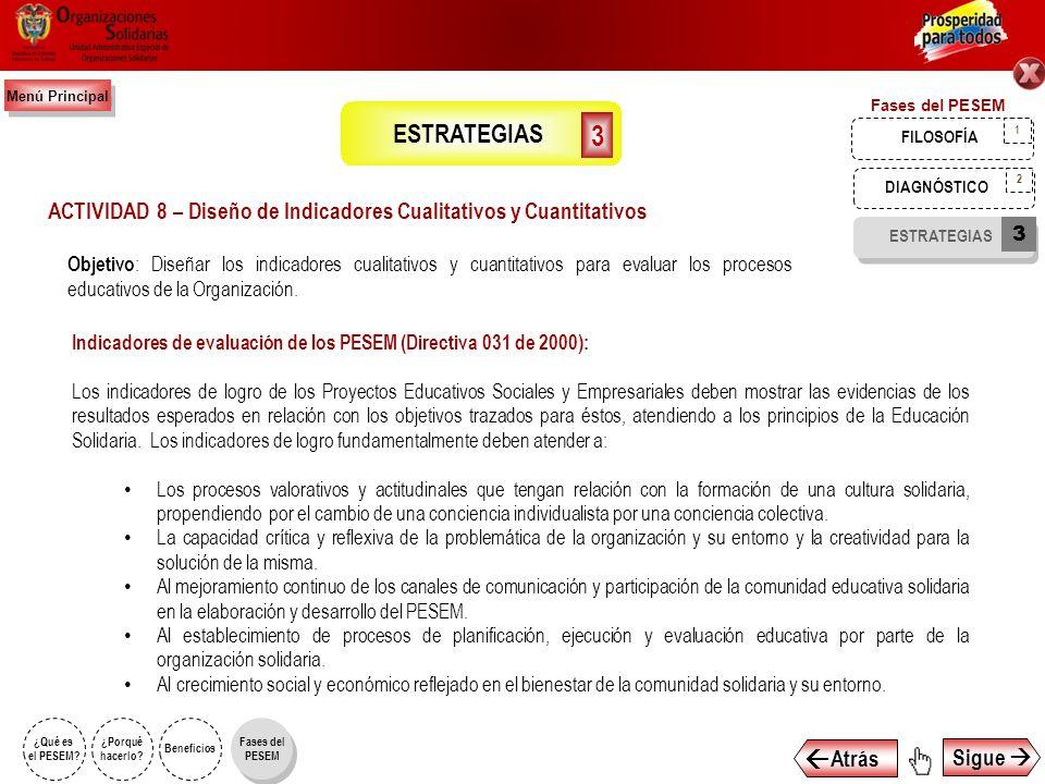 ACTIVIDAD 8 – Diseño de Indicadores Cualitativos y Cuantitativos