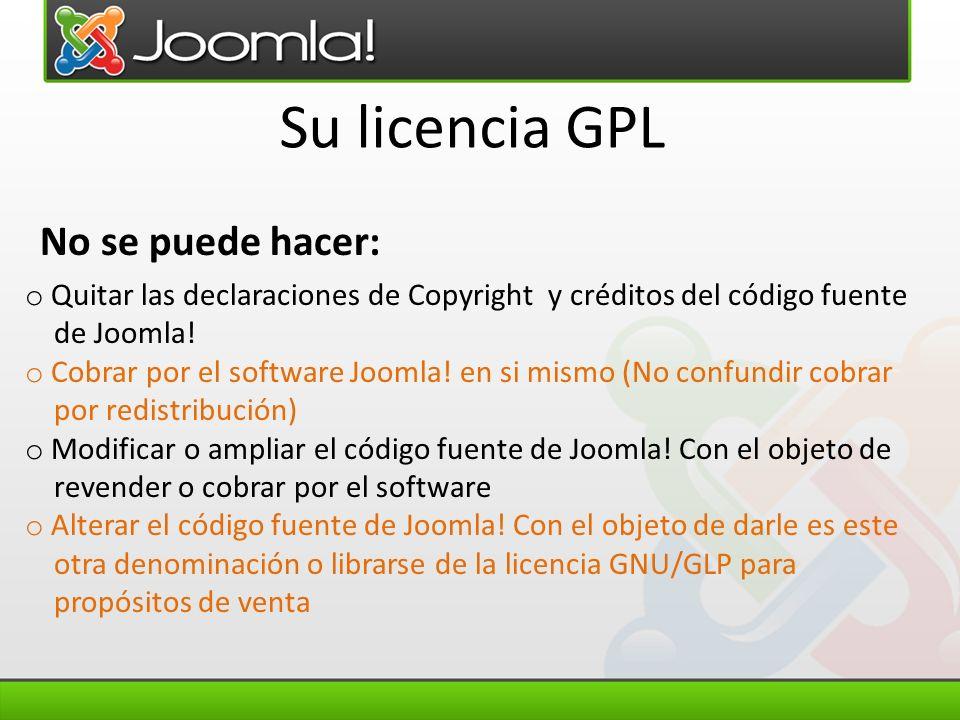 Su licencia GPL No se puede hacer: