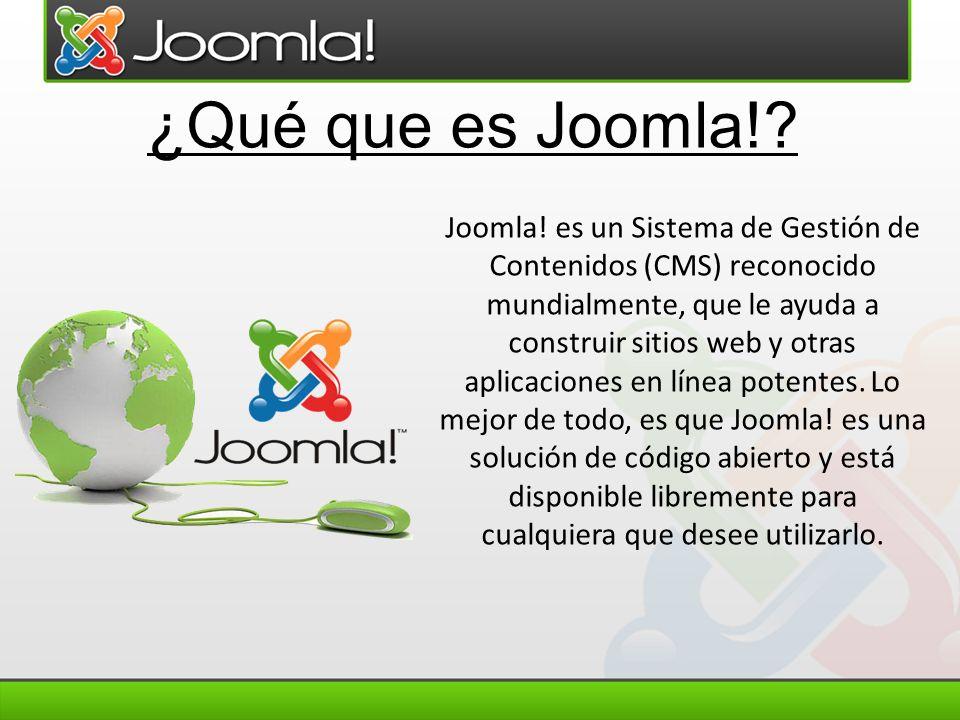 ¿Qué que es Joomla!