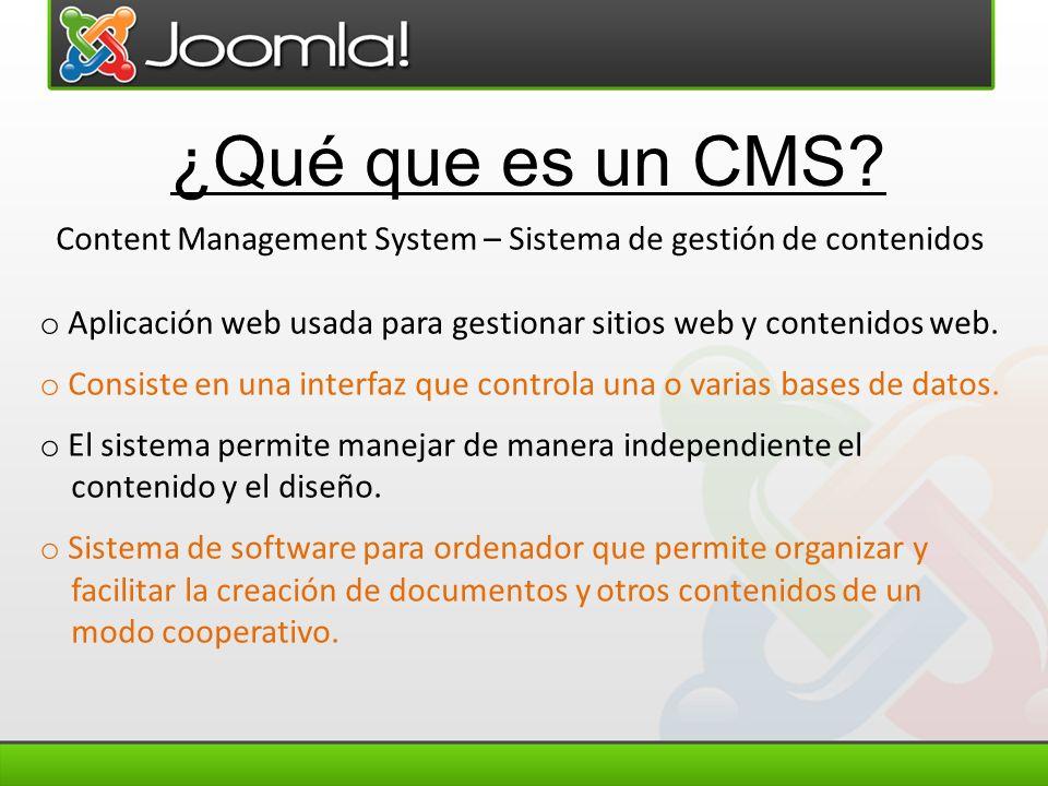 Content Management System – Sistema de gestión de contenidos