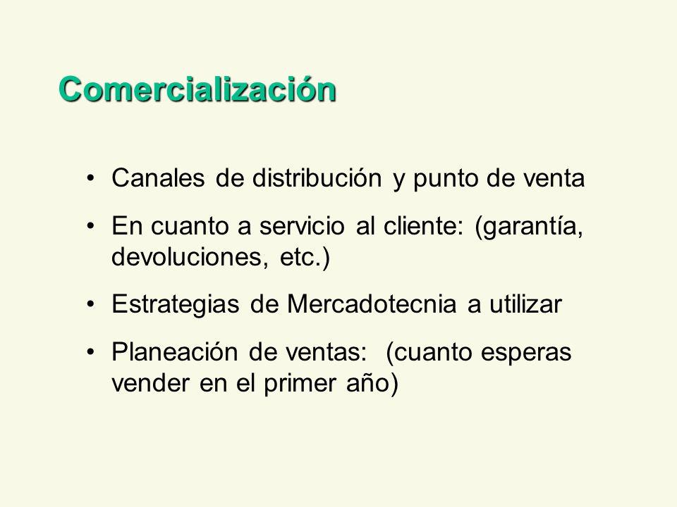 Comercialización Canales de distribución y punto de venta