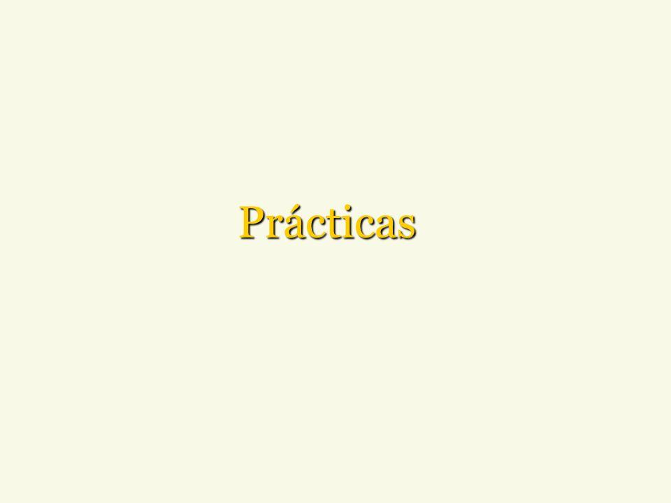 Prácticas Para finalizar, vuelva a mencionar las acciones y los beneficios.