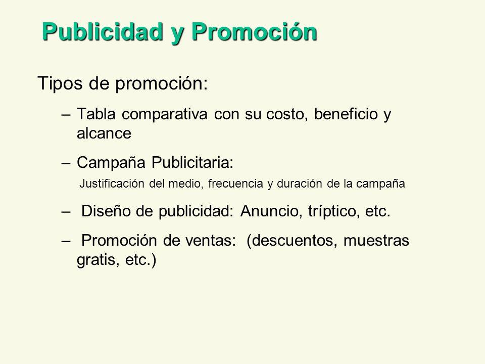Publicidad y Promoción