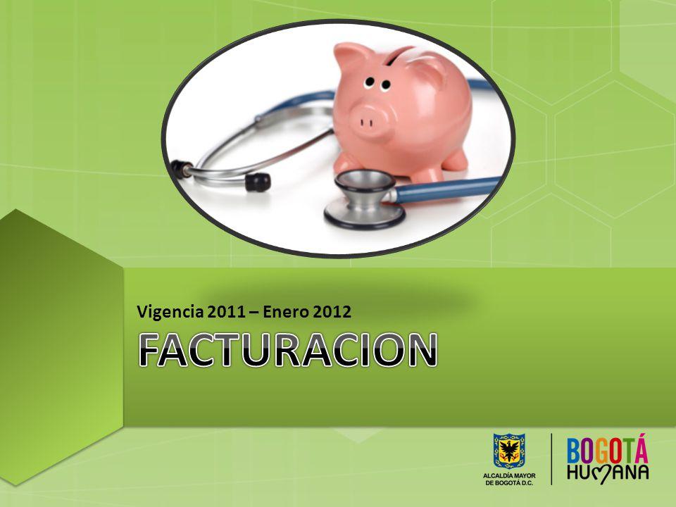Vigencia 2011 – Enero 2012 FACTURACION