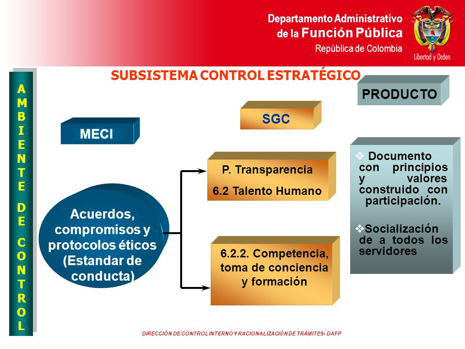SUBSISTEMA CONTROL ESTRATÉGICO PRODUCTO