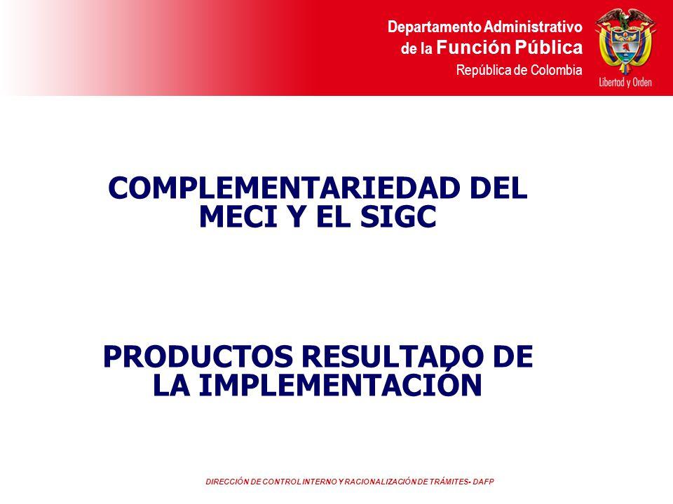 COMPLEMENTARIEDAD DEL MECI Y EL SIGC