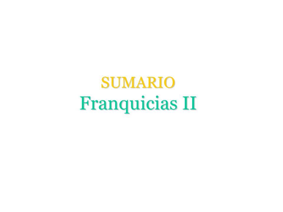 SUMARIO Franquicias II