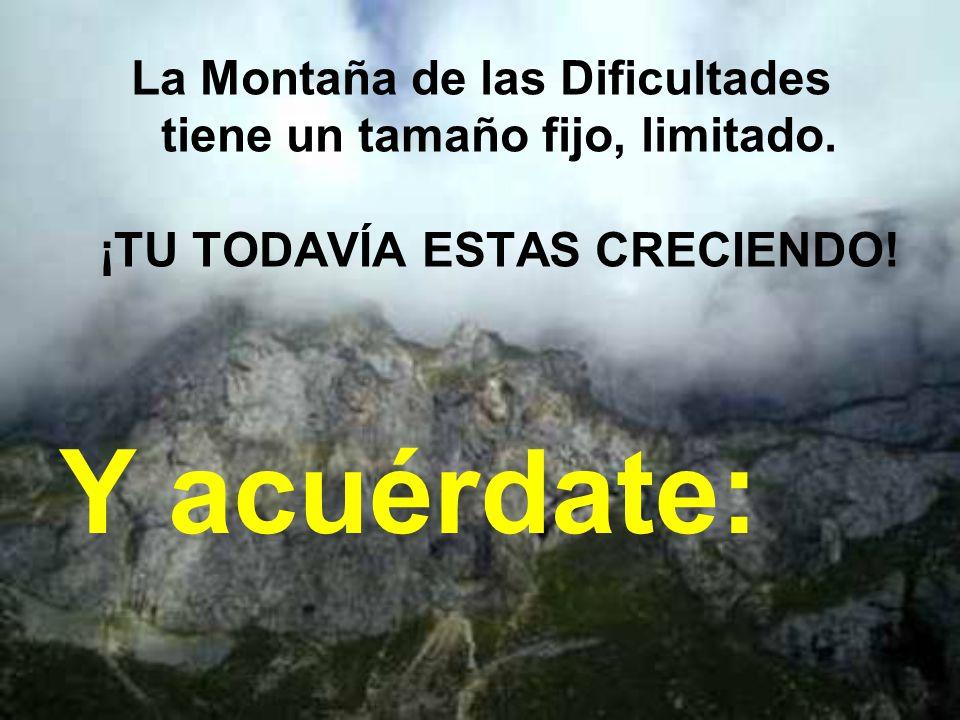 La Montaña de las Dificultades tiene un tamaño fijo, limitado