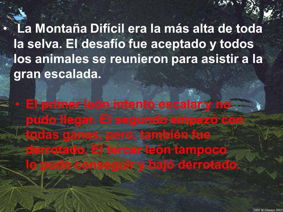 La Montaña Difícil era la más alta de toda la selva