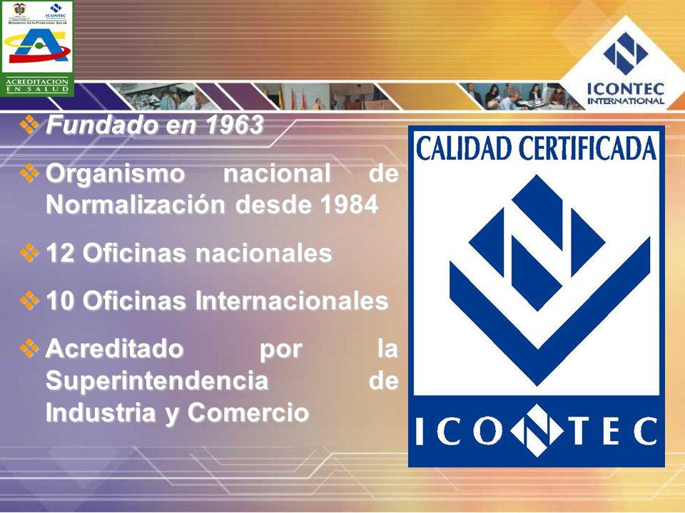 Fundado en 1963 Organismo nacional de Normalización desde 1984. 12 Oficinas nacionales. 10 Oficinas Internacionales.