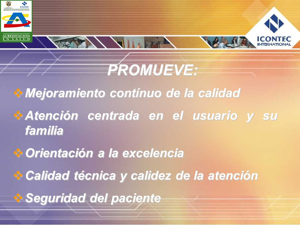PROMUEVE: Mejoramiento contínuo de la calidad