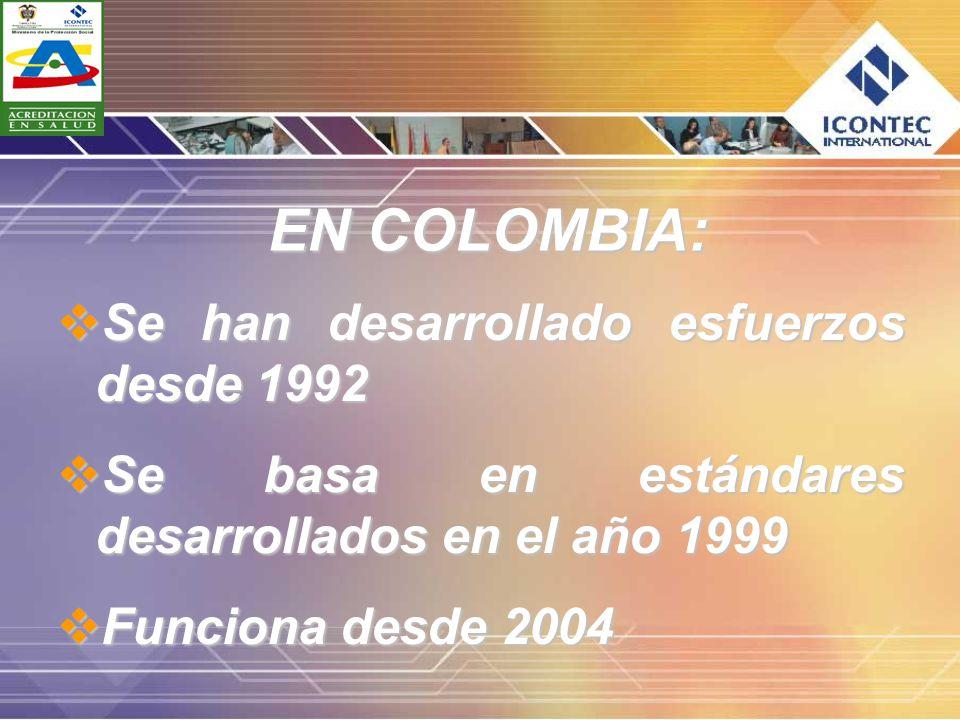 EN COLOMBIA: Se han desarrollado esfuerzos desde 1992