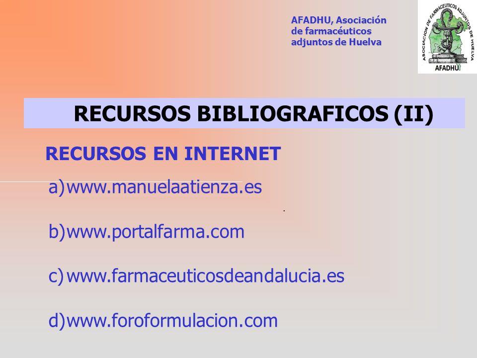 RECURSOS BIBLIOGRAFICOS (II)
