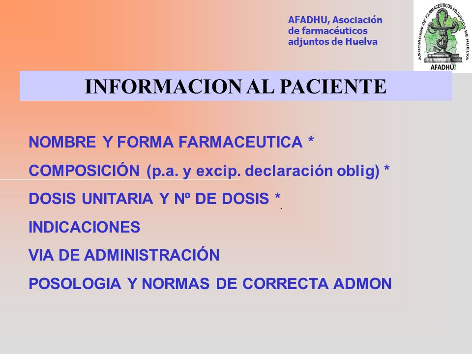 INFORMACION AL PACIENTE