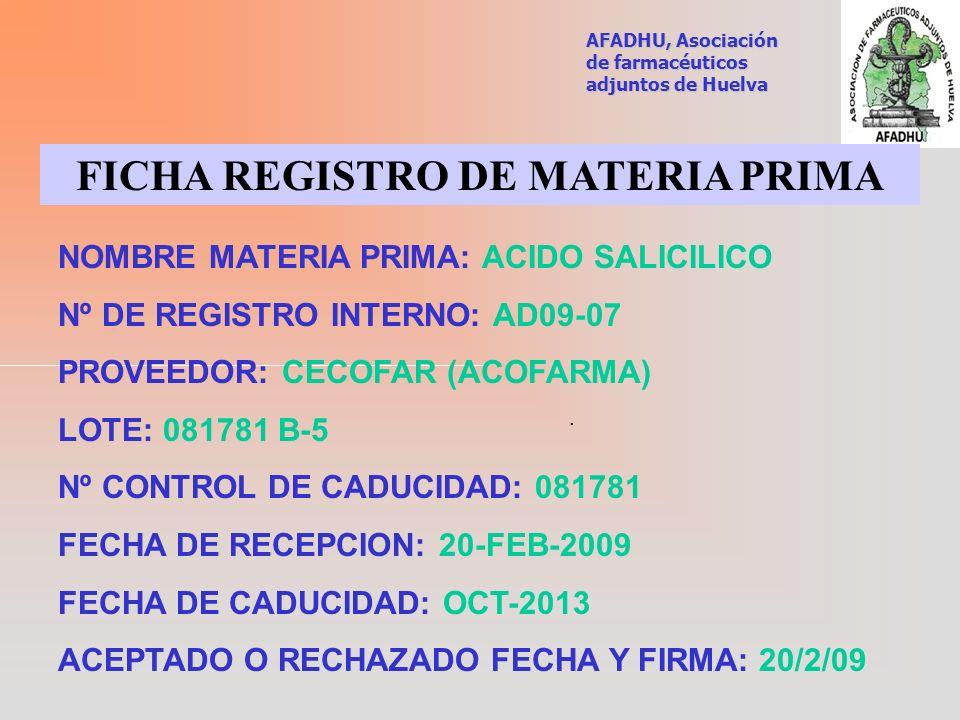 FICHA REGISTRO DE MATERIA PRIMA