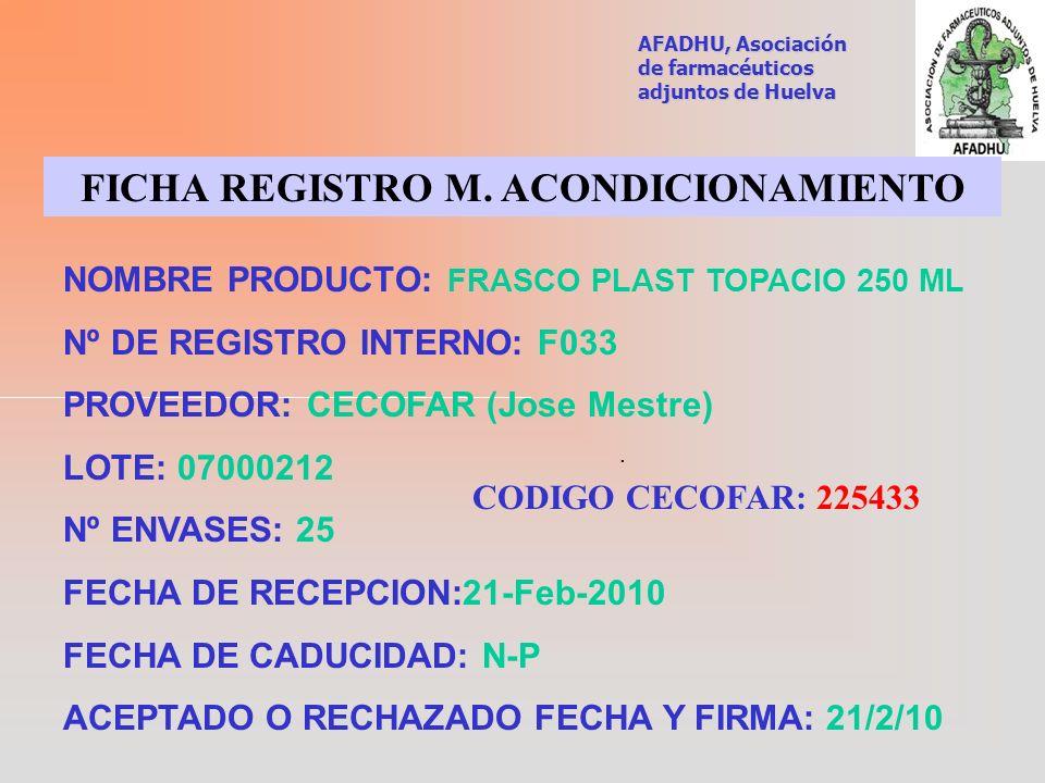 FICHA REGISTRO M. ACONDICIONAMIENTO