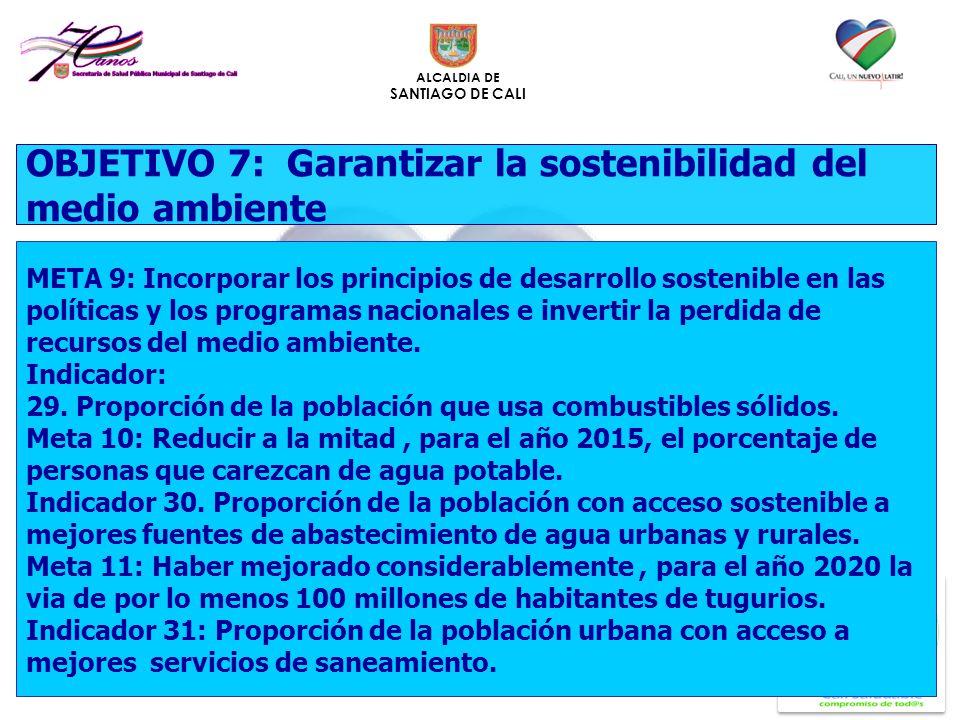 OBJETIVO 7: Garantizar la sostenibilidad del medio ambiente