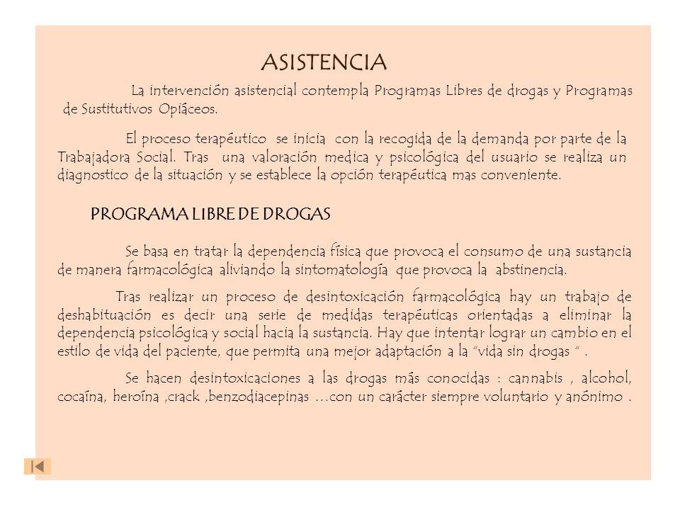 ASISTENCIA PROGRAMA LIBRE DE DROGAS