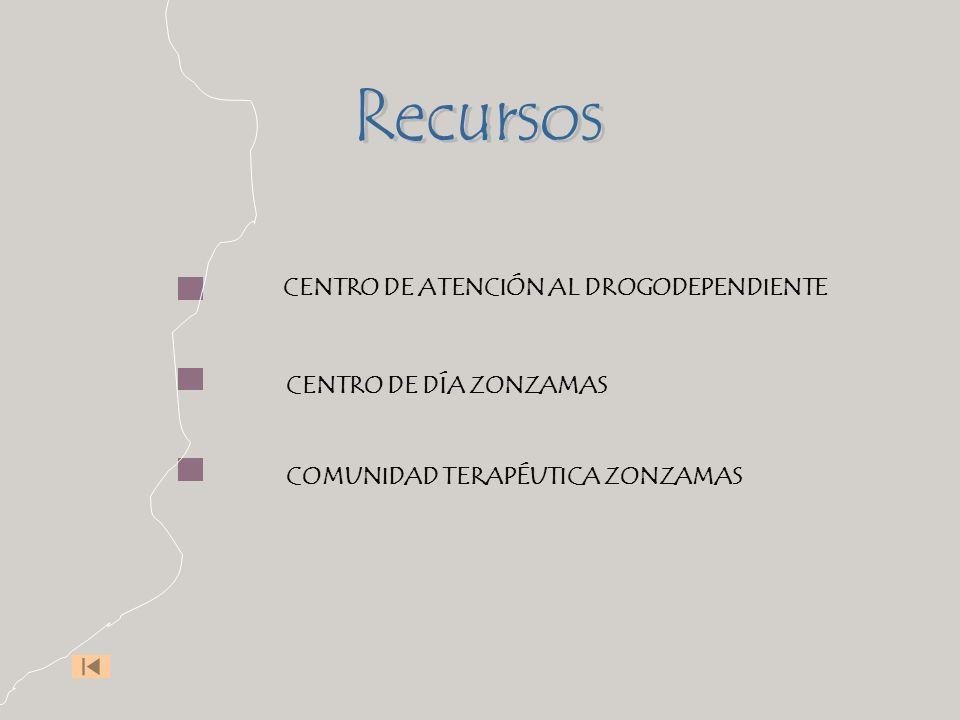 Recursos CENTRO DE ATENCIÓN AL DROGODEPENDIENTE CENTRO DE DÍA ZONZAMAS
