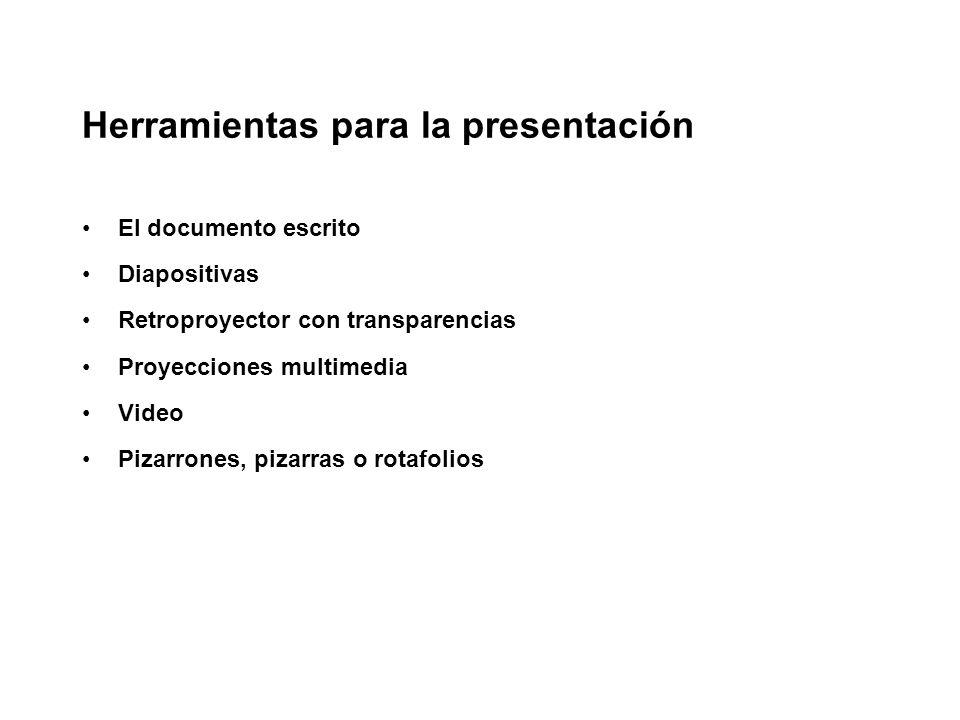 Herramientas para la presentación