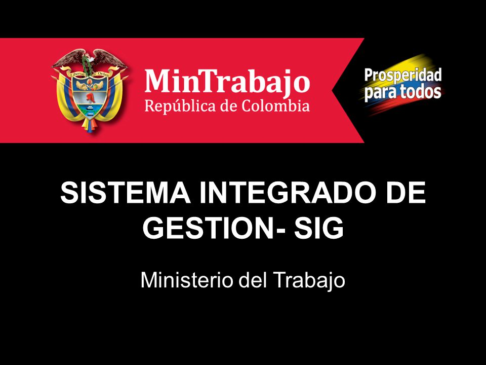 SISTEMA INTEGRADO DE GESTION- SIG