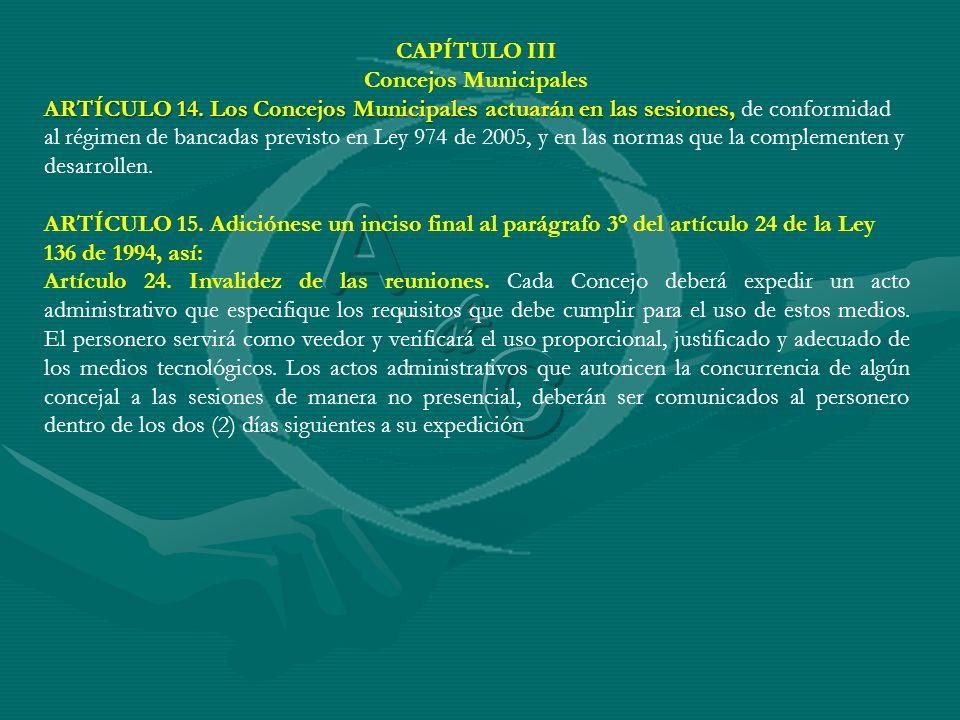 A C & CAPÍTULO III Concejos Municipales