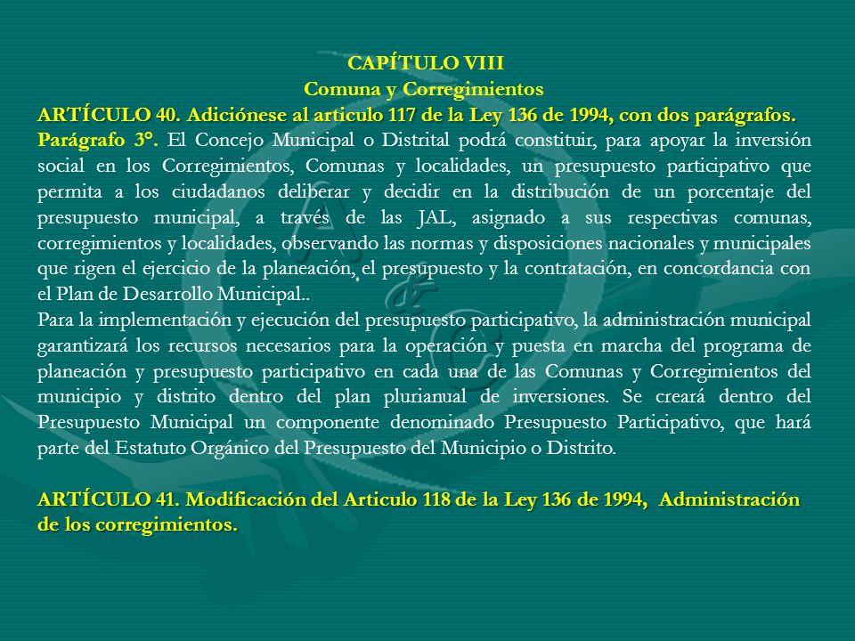 Comuna y Corregimientos