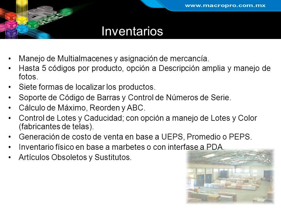 Inventarios Manejo de Multialmacenes y asignación de mercancía.