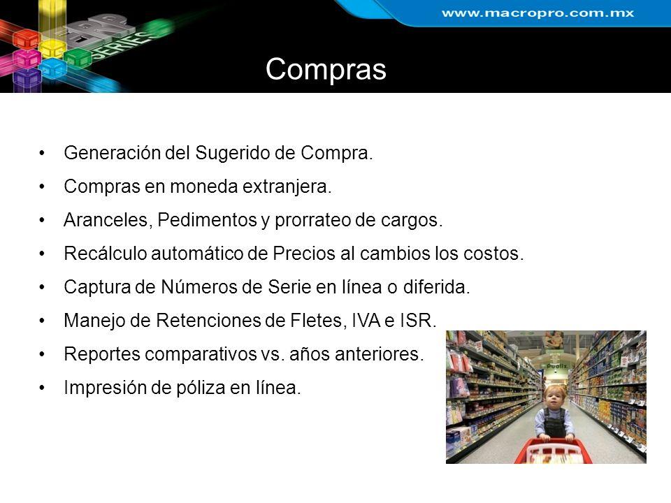 Compras Generación del Sugerido de Compra.