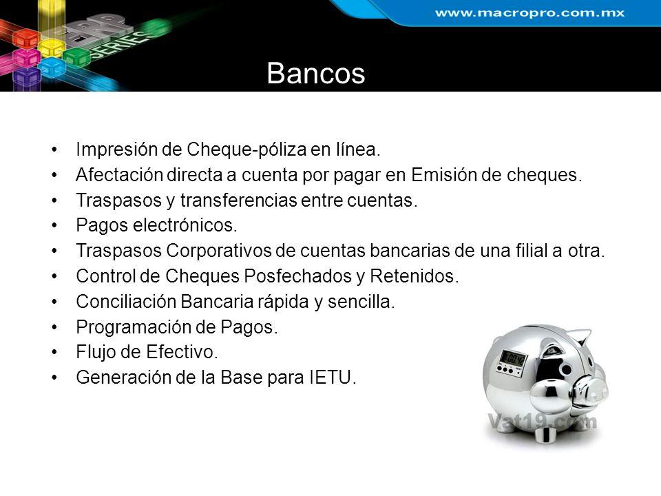 Bancos Impresión de Cheque-póliza en línea.