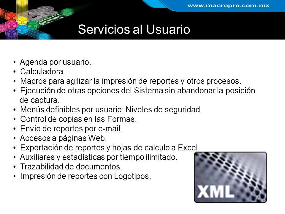 Servicios al Usuario Agenda por usuario. Calculadora.
