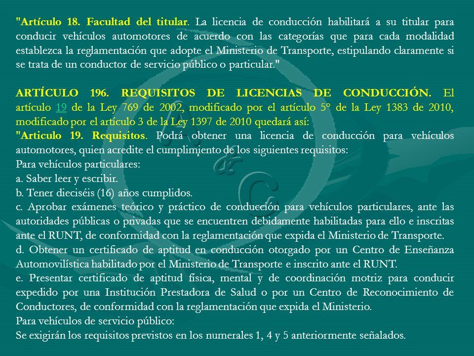 Artículo 18. Facultad del titular