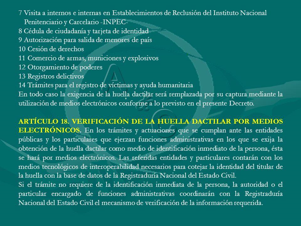 7 Visita a internos e internas en Establecimientos de Reclusión del Instituto Nacional