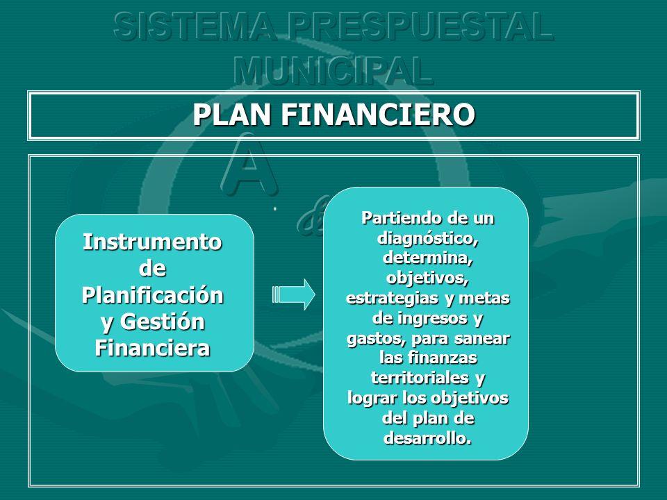 A C & SISTEMA PRESPUESTAL MUNICIPAL PLAN FINANCIERO