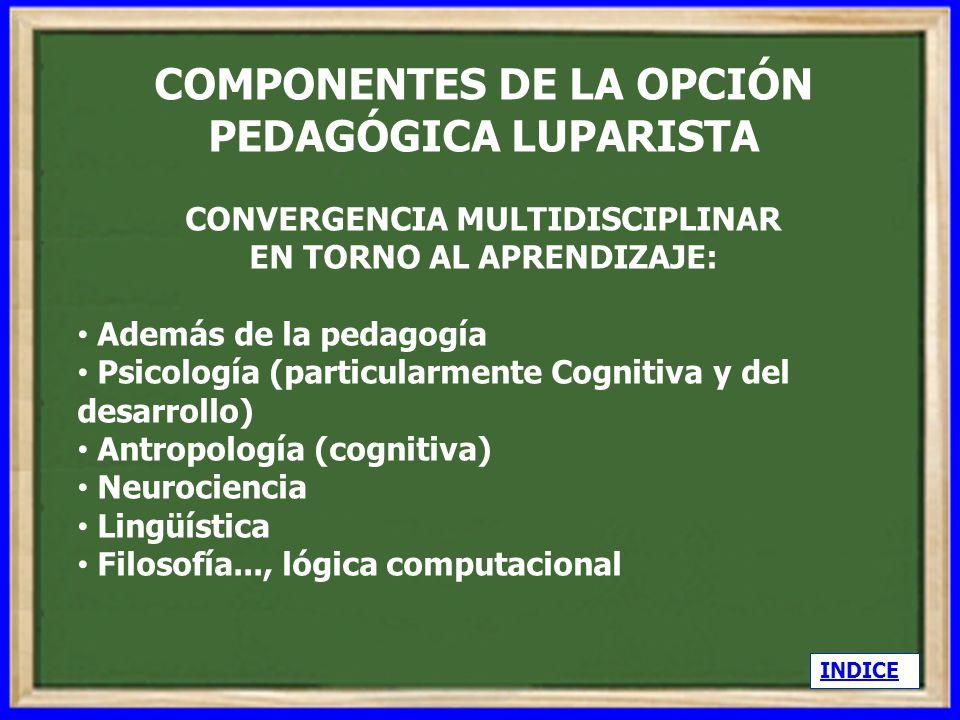 COMPONENTES DE LA OPCIÓN PEDAGÓGICA LUPARISTA