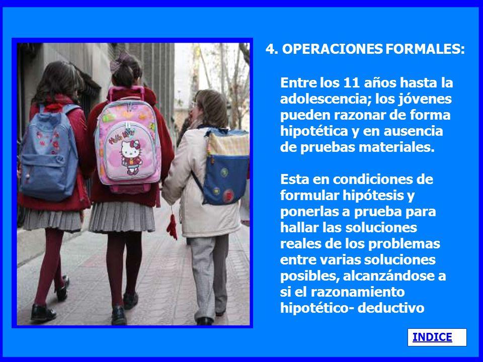 4. OPERACIONES FORMALES: