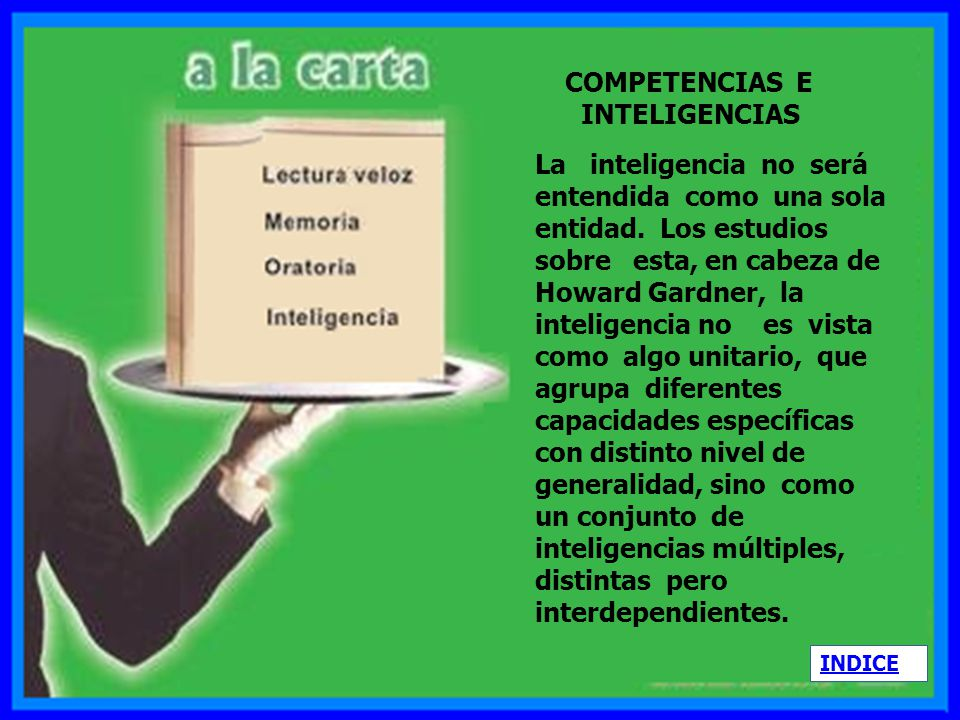 COMPETENCIAS E INTELIGENCIAS